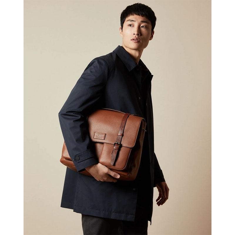 Ted Baker Finlie Leather Document Bag Tan-179209