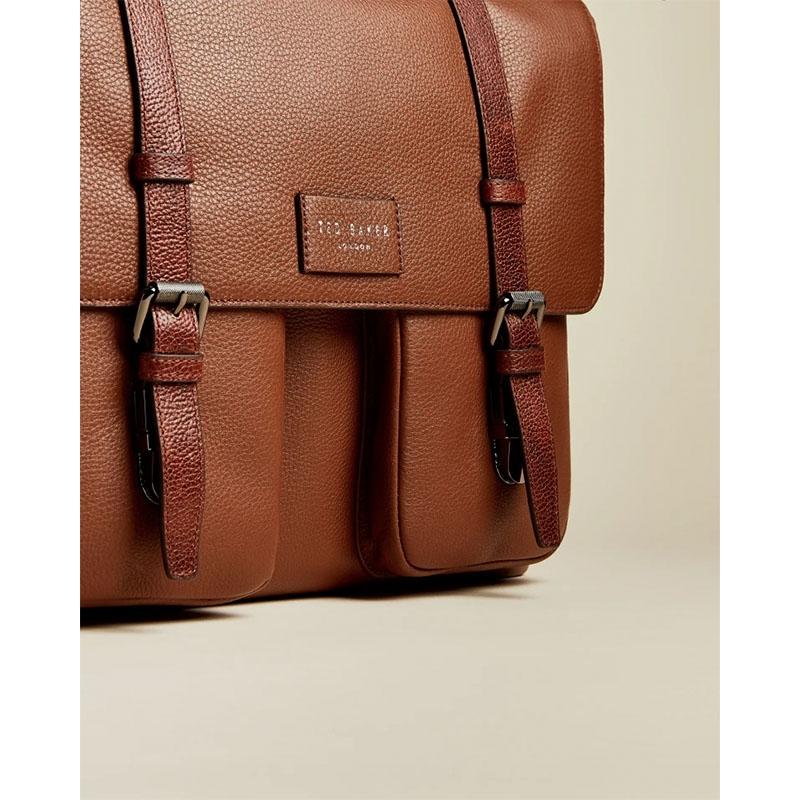 Ted Baker Finlie Leather Document Bag Tan-179211