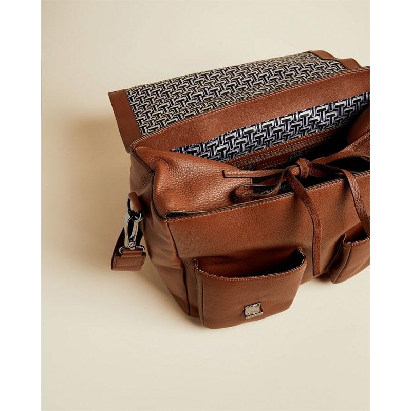 Ted Baker Finlie Leather Document Bag Tan-179212
