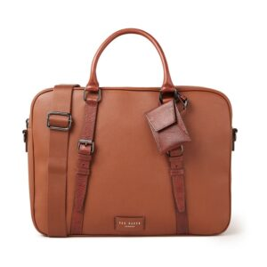 Ted Baker Hooston Leather Document Bag Brown-0