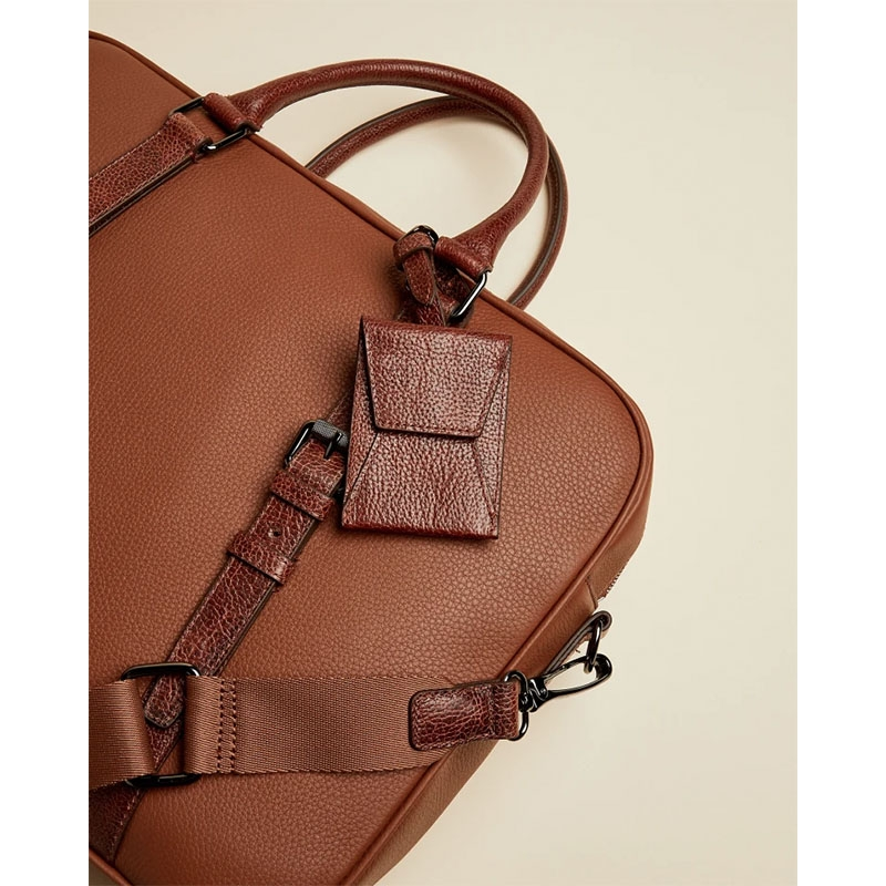 Ted Baker Hooston Leather Document Bag Brown-179204