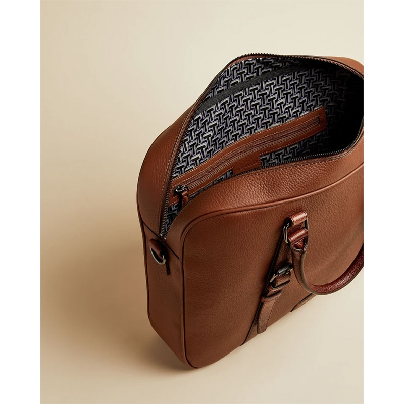Ted Baker Hooston Leather Document Bag Brown-179206