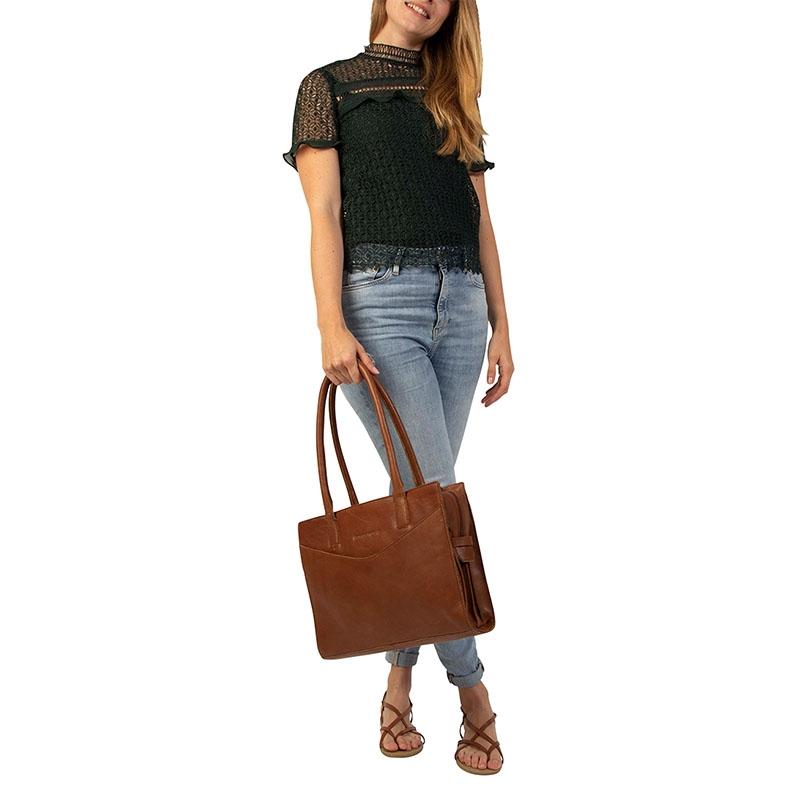 """Cowboysbag Nora Laptopbag 13"""" Tan-178353"""