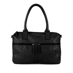 DSTRCT Harrington Road Leather Shoulderbag Black-0