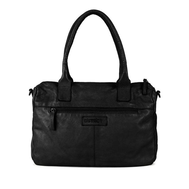 DSTRCT Harrington Road Leather Shoulderbag Black-177373