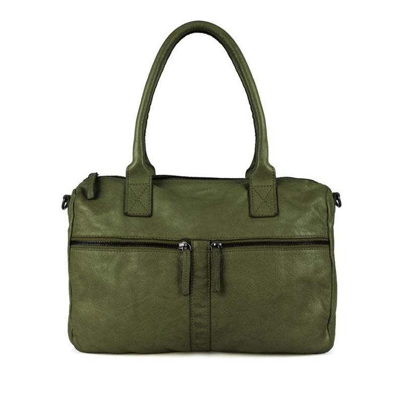 DSTRCT Harrington Road Leather Shoulderbag Khaki-0