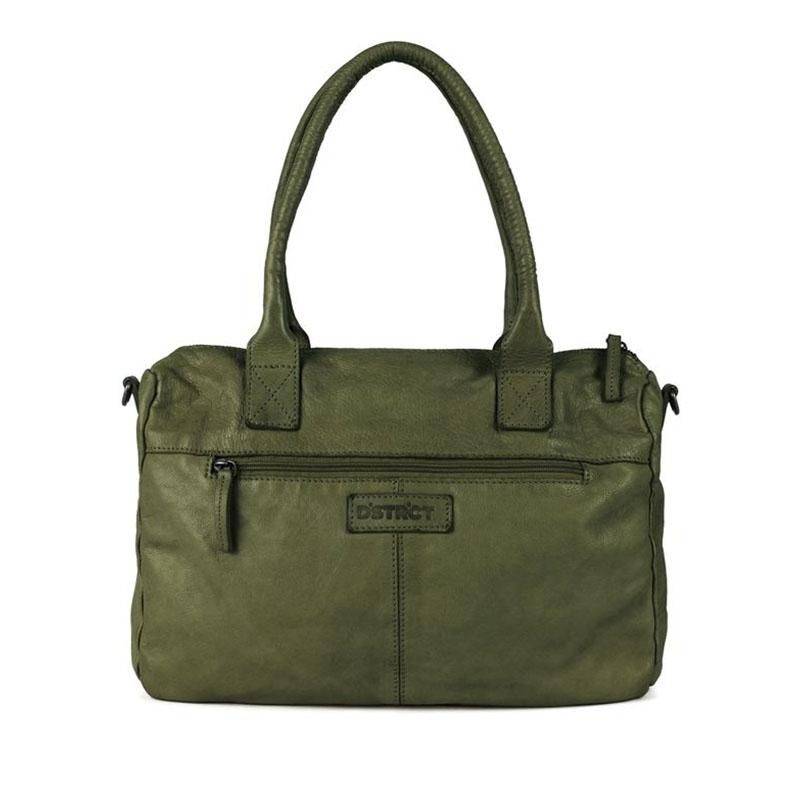 DSTRCT Harrington Road Leather Shoulderbag Khaki-177381