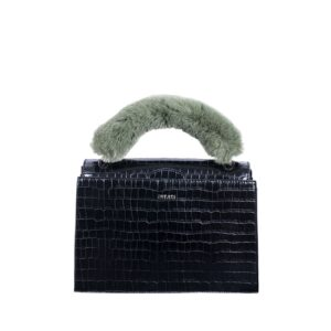 INYATI Olivia Top Handle Bag Black Croco-0