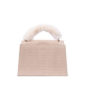 INYATI Olivia Top Handle Bag Latte Croco-0