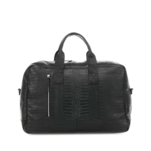 Still Nordic Dundee Weekend Bag Black Croco-0