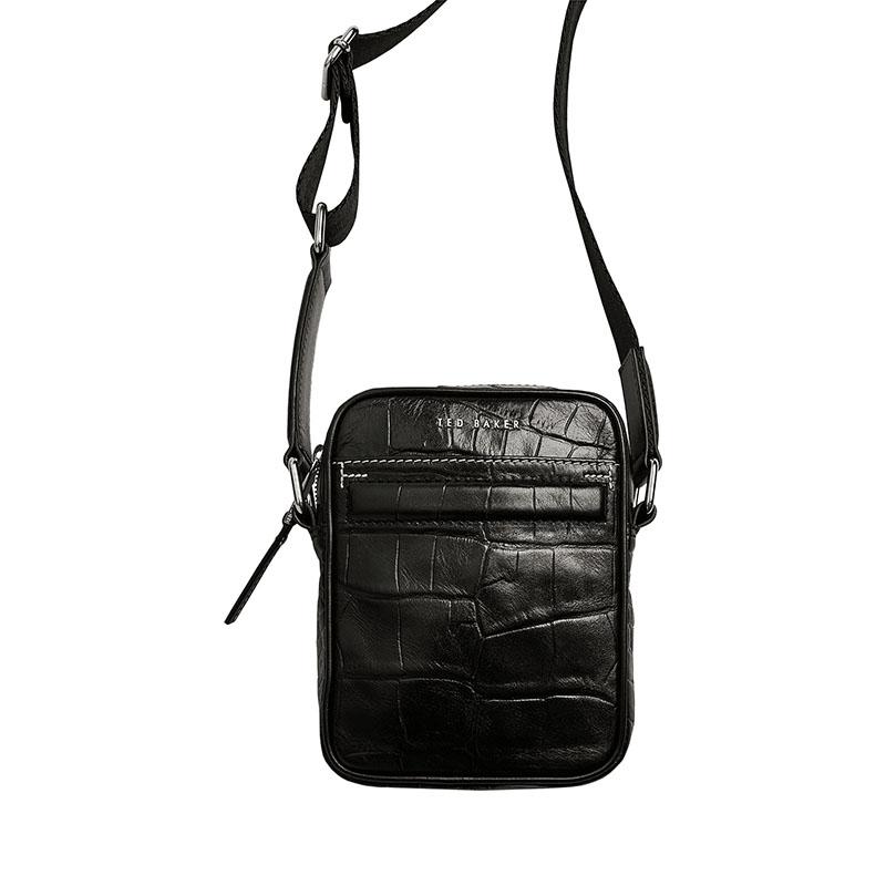 Ted Baker Buklup Croc Leather Mini Flight Bag Back-0