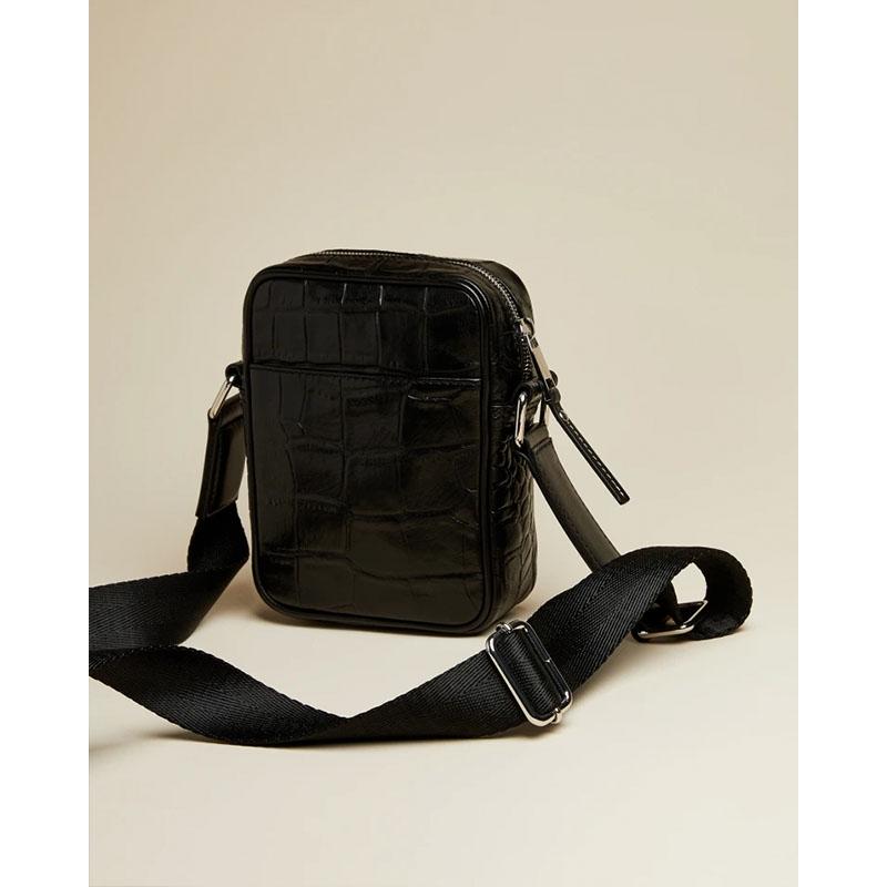 Ted Baker Buklup Croc Leather Mini Flight Bag Back-179845