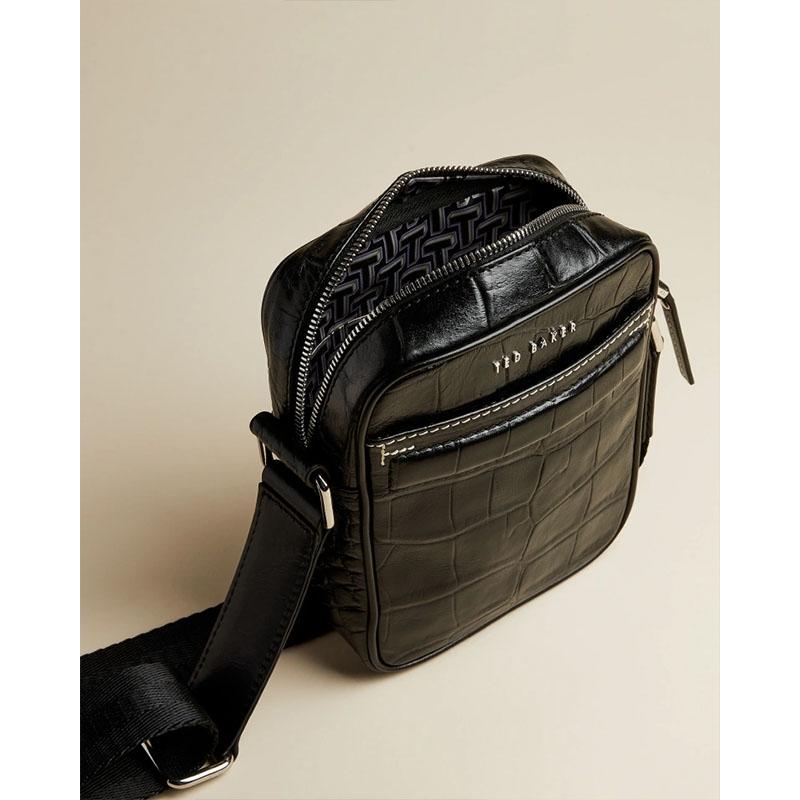 Ted Baker Buklup Croc Leather Mini Flight Bag Back-179846