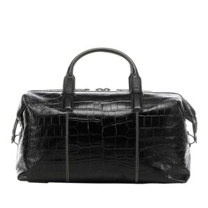 Ted Baker Donk Croc Leather Holdall Black-0