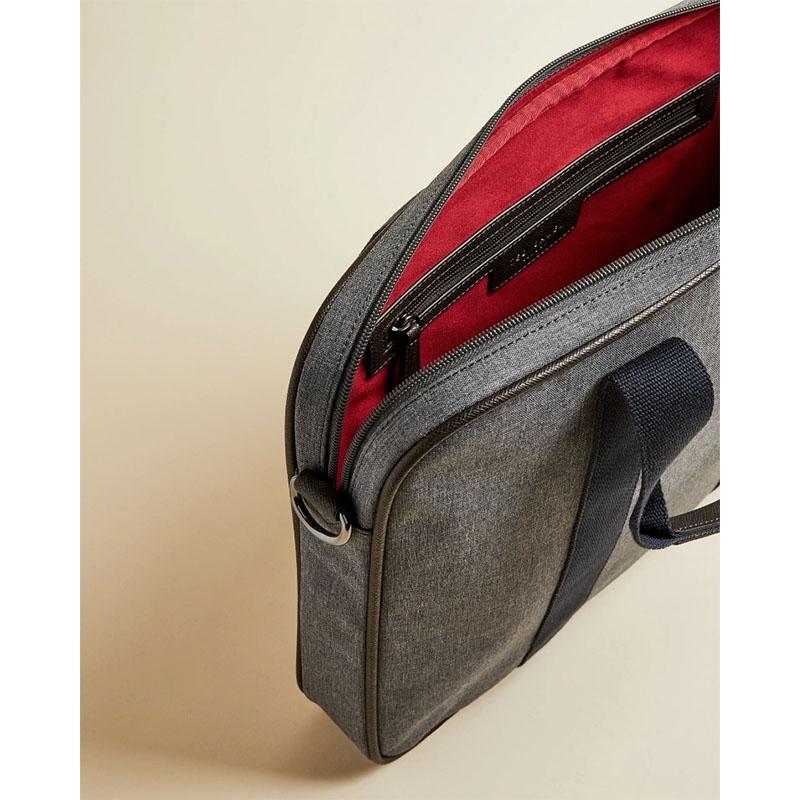 Ted Baker Runaway Nylon Document Bag Grey Marl-179905