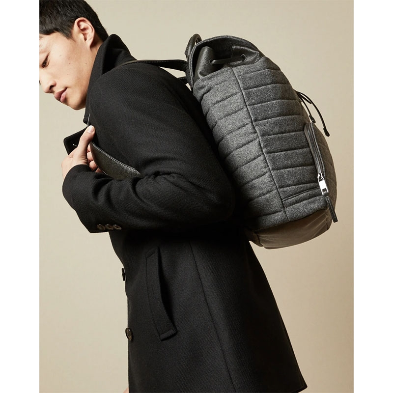 Ted Baker Textee Wool Backpack Grey-179857