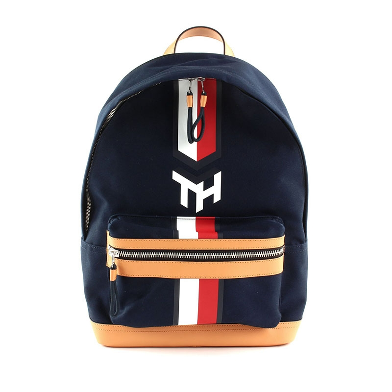 Tommy Hilfiger Casual Canvas Backpack Sky Captain-0