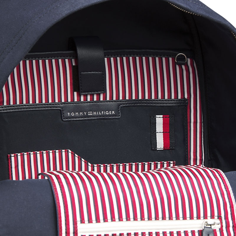 Tommy Hilfiger Casual Canvas Backpack Sky Captain-179593