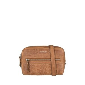 Burkely Croco Cody 5-Way Bag Dark Cognac-0