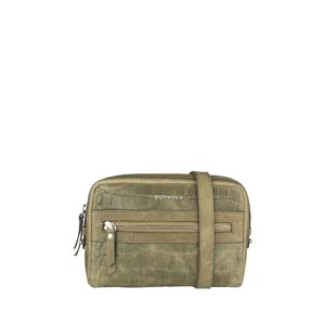 Burkely Croco Cody 5-Way Bag Dark Light Green-0