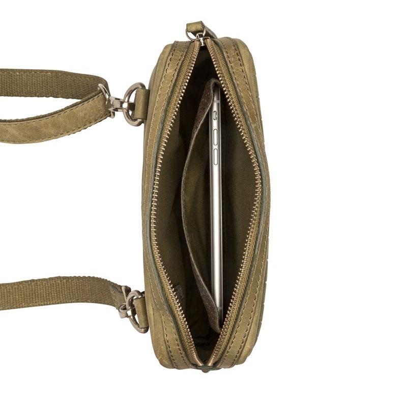Burkely Croco Cody 5-Way Bag Dark Light Green