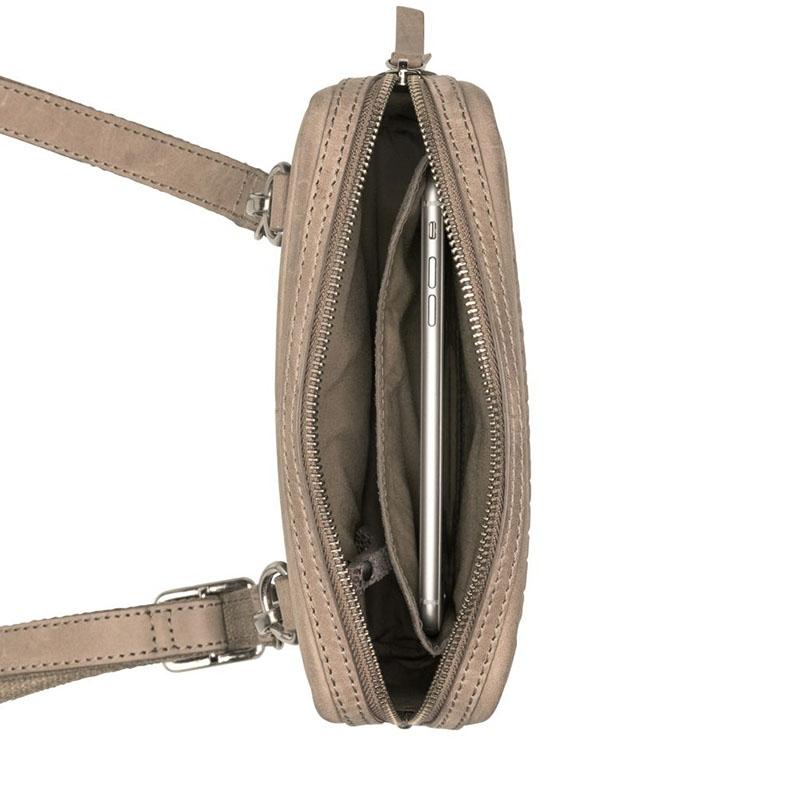 Burkely Croco Cody 5-Way Bag Dark Grey-178838