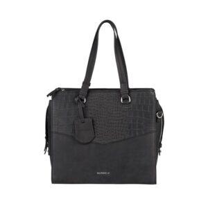 Burkely Croco Cody Handbag Medium Black