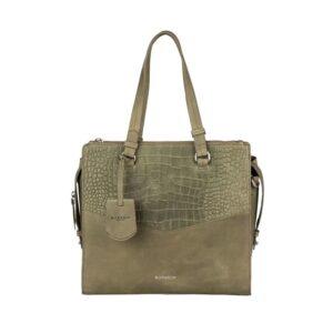 Burkely Croco Cody Handbag Medium Light Green-0