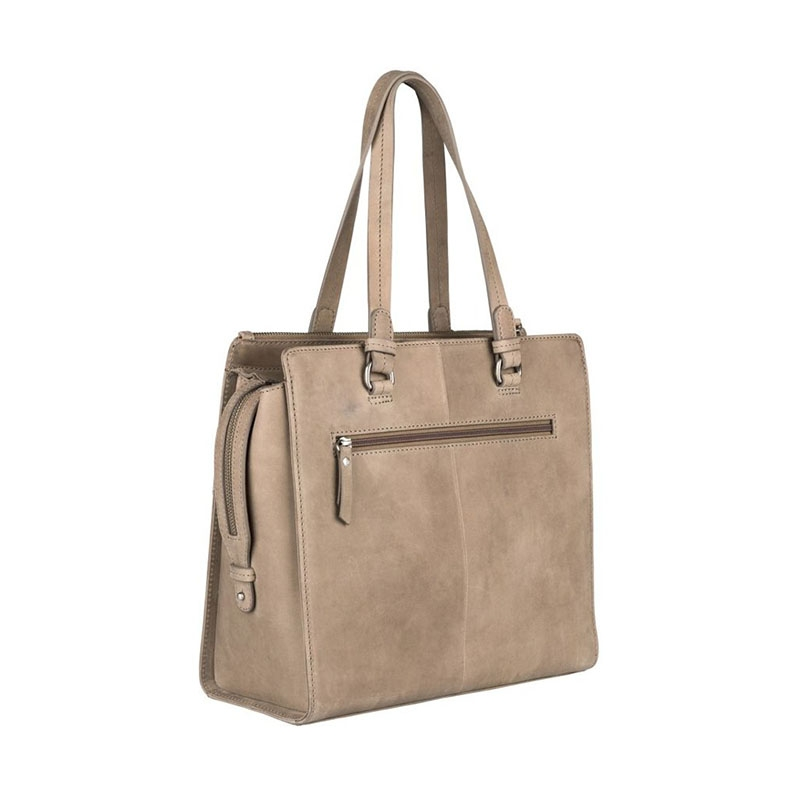 Burkely Croco Cody Handbag Medium Dark Grey-178657