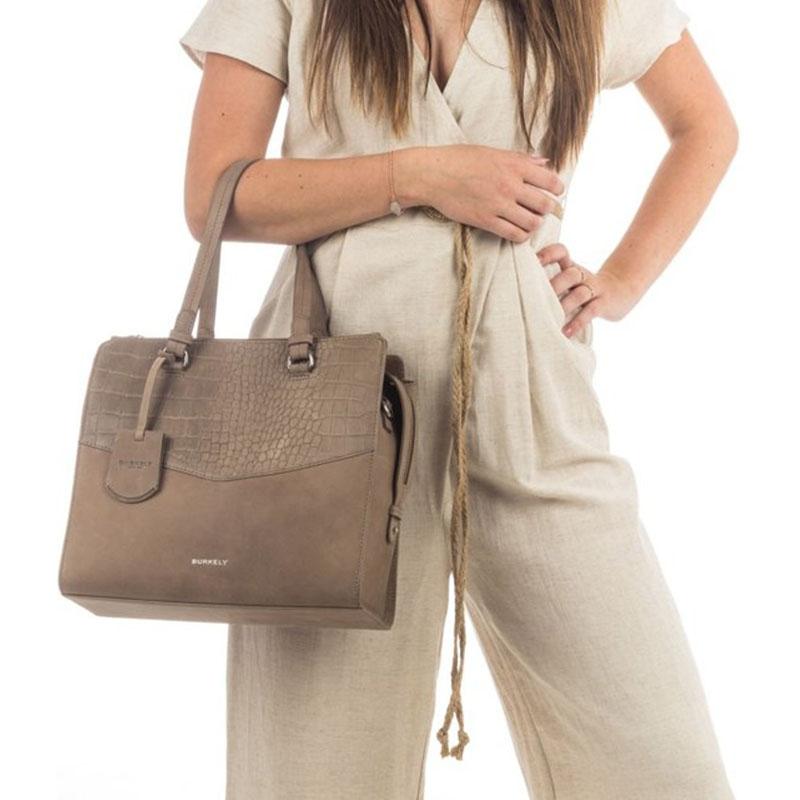 Burkely Croco Cody Handbag Medium Dark Grey-178658
