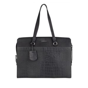 "Burkely Croco Cody Workbag 15"" Black-0"