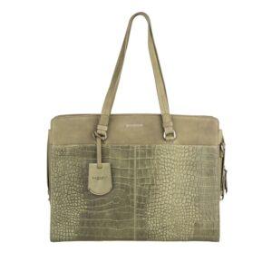 Burkely Croco Cody Workbag 15″ Light Green