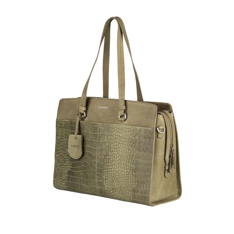 "Burkely Croco Cody Workbag 15"" Light Green-178646"