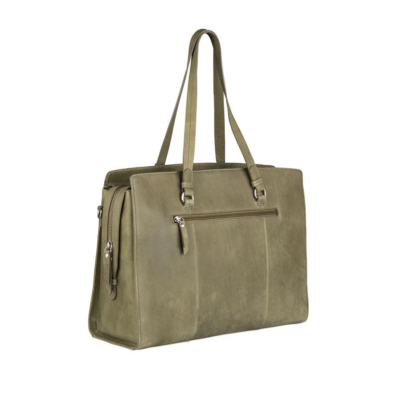 "Burkely Croco Cody Workbag 15"" Light Green-178647"