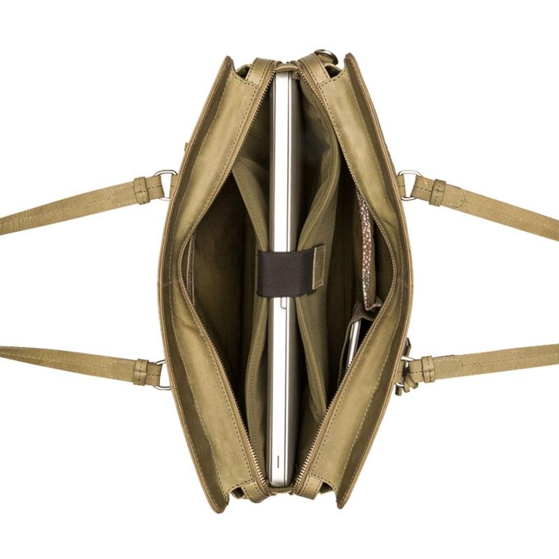 "Burkely Croco Cody Workbag 15"" Light Green-178648"