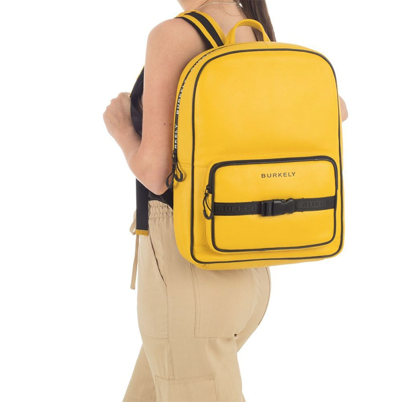 """Burkely Rebel Reese 15"""" Backpack Yellow-180409"""