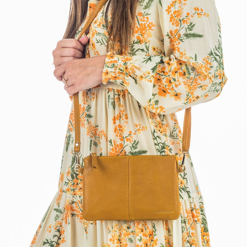 Burkely Secret Sage Crossover Small Amber Yellow-180356