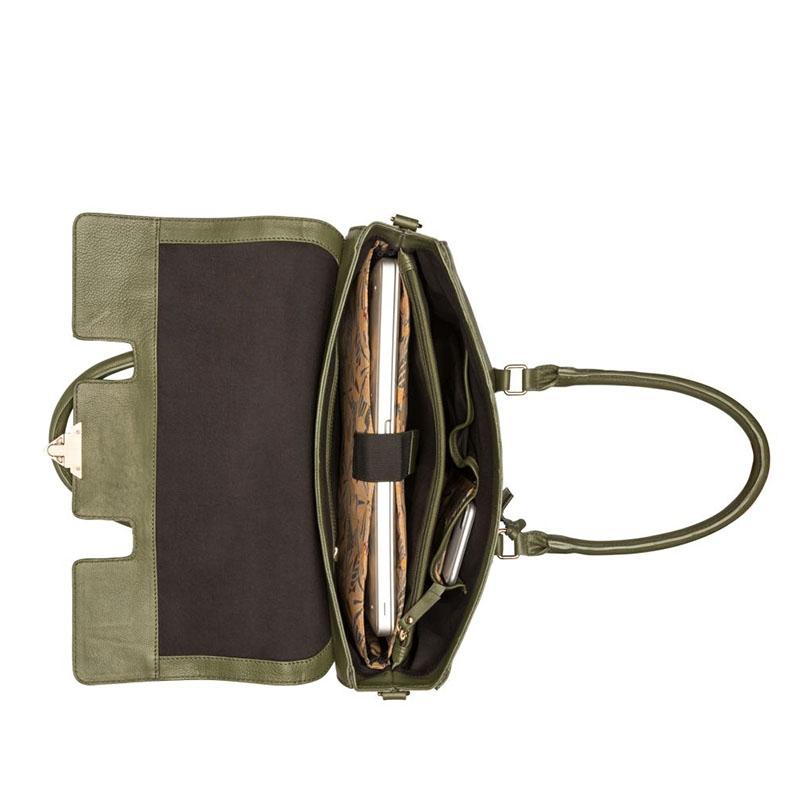"""Burkely Secret Sage Workbag 14"""" Dark Green-180301"""