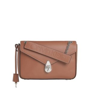 Calvin Klein Lock Conv Crossbody Light Brown