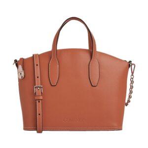 Calvin Klein Lock Leather Tote Bag Cuoio-0