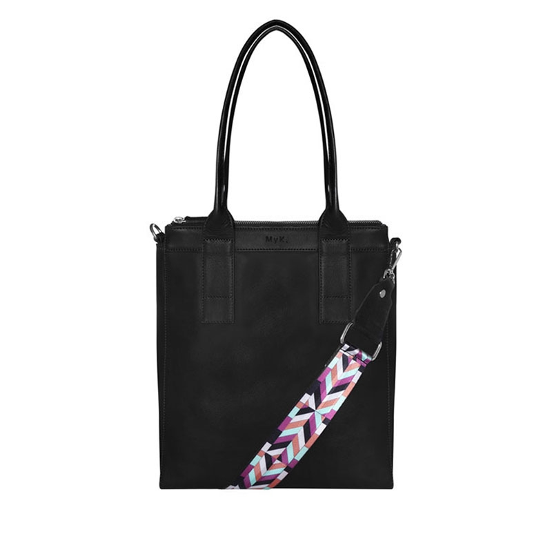 MyK. Lotus Bag Black-0