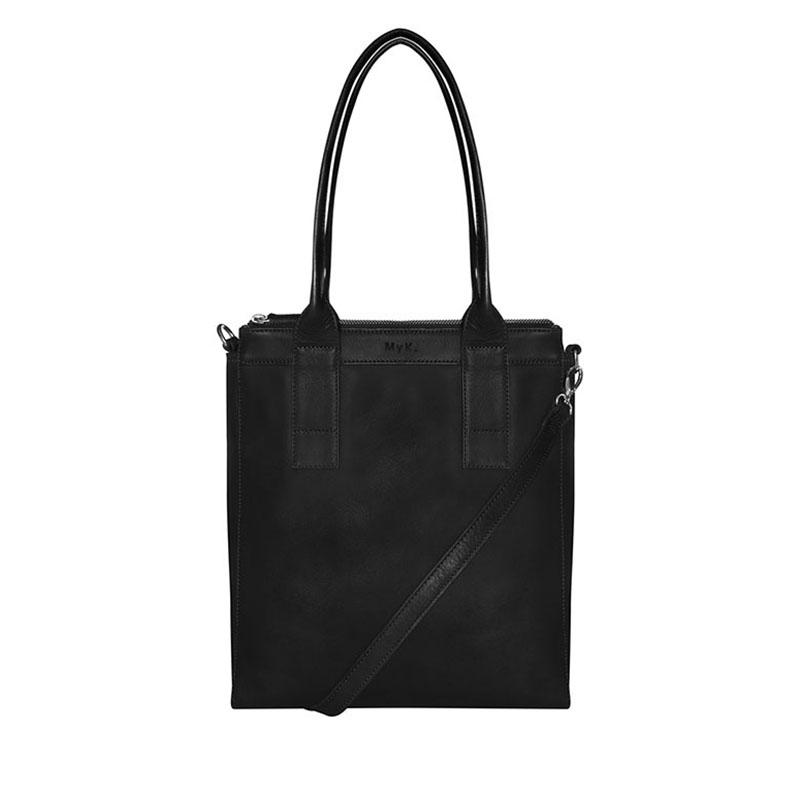 MyK. Lotus Bag Black-179249