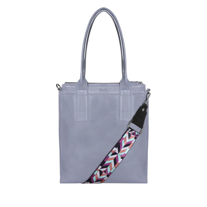 MyK. Lotus Bag Silver Grey-0