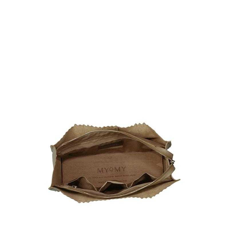 MYOMY My Paper Bag Mini Handbag Cross-body Sand-179534