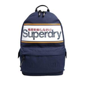 Superdry Stripe Logo Montana Blue-0