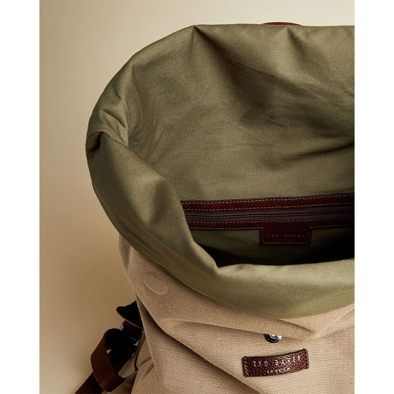 Ted Baker Featt Canvas Backpack Naturel-180964