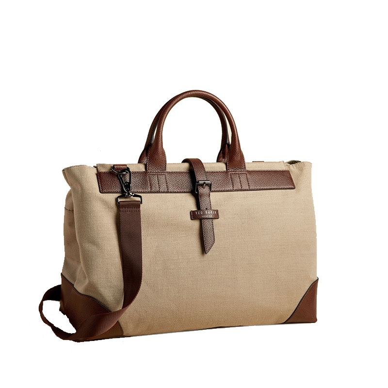 Ted Baker Giante Canvas Holdall Naturel-0