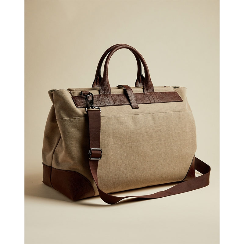 Ted Baker Giante Canvas Holdall Naturel-180959