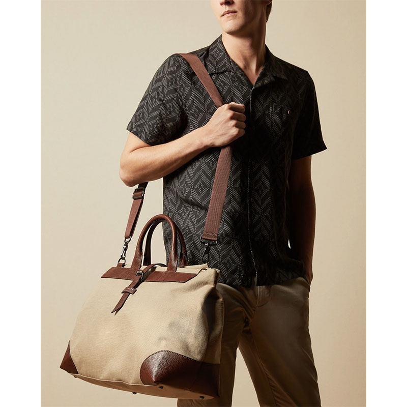 Ted Baker Giante Canvas Holdall Naturel-180961