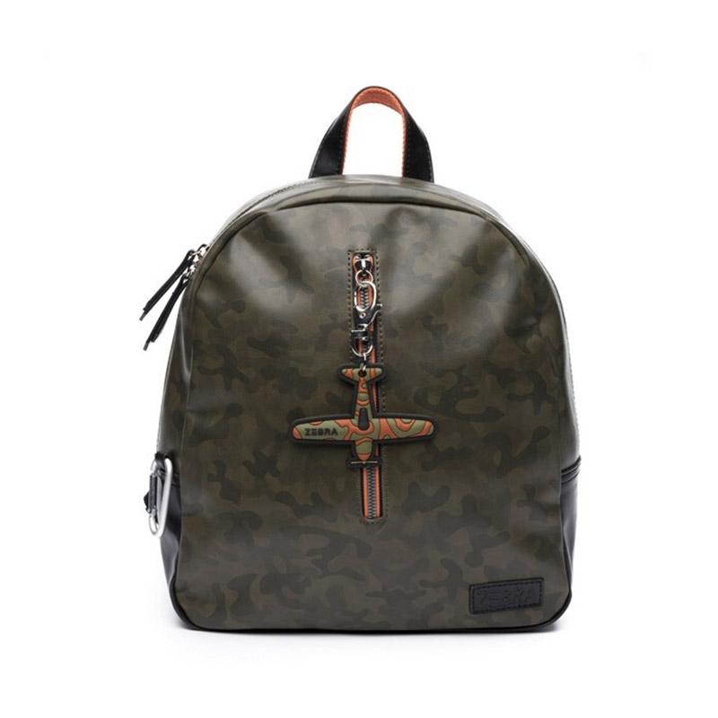 Zebra Trends Backpack Boys Army Green-0